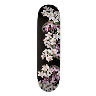 Shape De Skate 20,6cm A orquídea branca tropical da lavanda floresce o