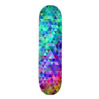Shape De Skate 20,6cm Arco-íris do mosaico do triângulo