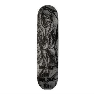 Shape De Skate 20,6cm arte abstracta preto e branco que levanta a