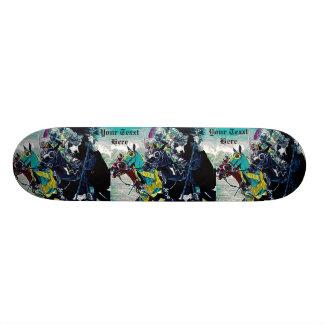 Shape De Skate 20,6cm arte histórica jousting dos cavalos dos cavaleiros