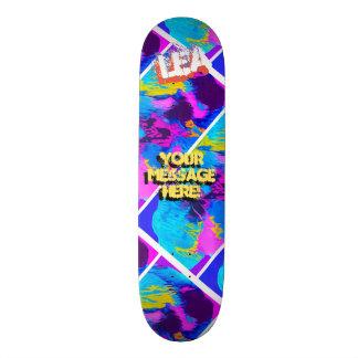 Shape De Skate 20,6cm Azul de turquesa magenta derramado na moda da