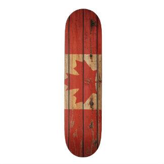 Shape De Skate 20,6cm Bandeira de madeira rústica de Canadá