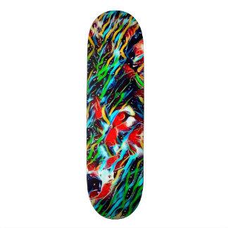 Shape De Skate 20,6cm Conselho feito sob encomenda da arte Indie do lobo