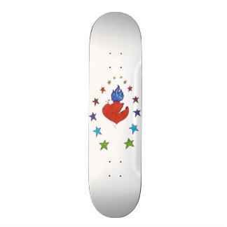 """Shape De Skate 20,6cm Coração e estrelas 7 7/8"""""""