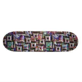 Shape De Skate 20,6cm Estrutura 3D abstrata colorida
