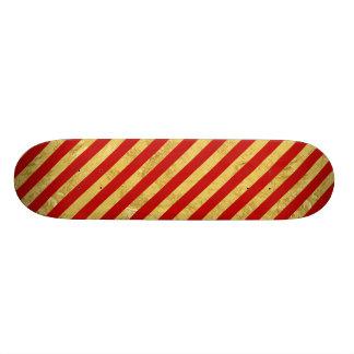 Shape De Skate 20,6cm Folha de ouro elegante e teste padrão vermelho da