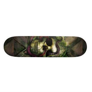 Shape De Skate 20,6cm Grunge do crânio do polvo
