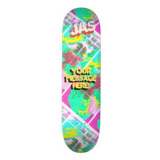 Shape De Skate 20,6cm Laranja cor-de-rosa magenta derramada na moda da