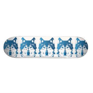 Shape De Skate 20,6cm Lobo do azul de gelo da ilustração