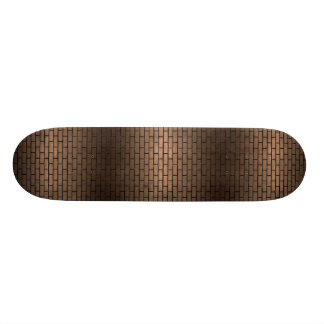 SHAPE DE SKATE 20,6CM METAL PRETO DO MÁRMORE BRICK1 & DO BRONZE (R)