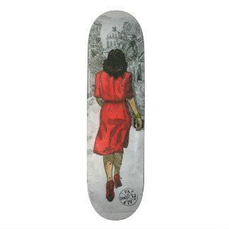 Shape De Skate 20,6cm Mulher no vermelho