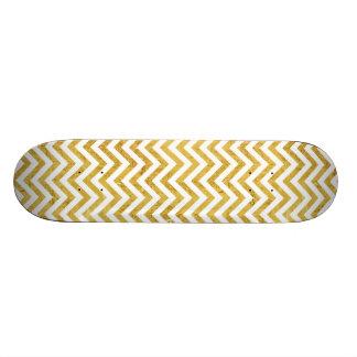 Shape De Skate 20,6cm O ziguezague elegante da folha de ouro listra o