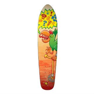 Shape De Skate 20,6cm Papagaio verde furioso que diz palavras más