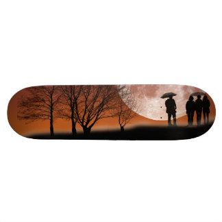 Shape De Skate 20,6cm Passeio na frente da arte Skateboar de Digitas da