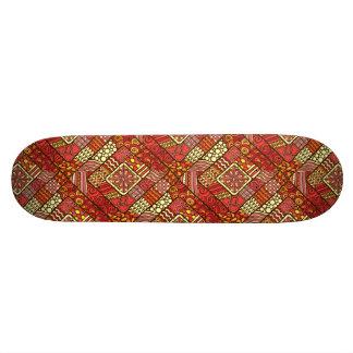 Shape De Skate 20,6cm Teste padrão asteca tribal abstrato do vermelho