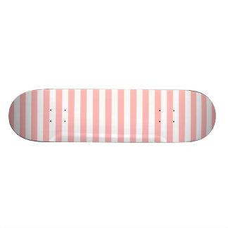 Shape De Skate 20,6cm Teste padrão cor-de-rosa e branco da listra