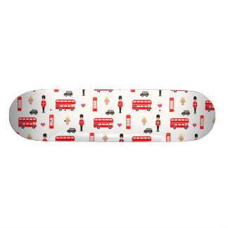 Shape De Skate 20,6cm Teste padrão dos símbolos de Inglaterra