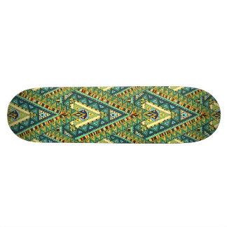 Shape De Skate 20,6cm Teste padrão étnico do boho amarelo verde