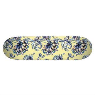 Shape De Skate 20,6cm Teste padrão floral tirado do batik da aguarela