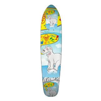 Shape De Skate 20,6cm Urso polar que diz as palavras más que estão no