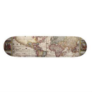 Shape De Skate 20cm 1652 mapa do mundo, mapa do mundo do atlas do mar
