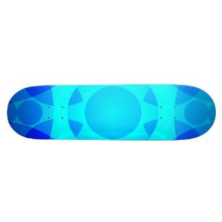 Shape De Skate 20cm A mandala floral de néon azul ilumina a plataforma