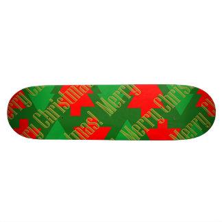Shape De Skate 20cm Árvore de Natal vermelha festiva do verde do ouro
