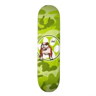 Shape De Skate 20cm Buldogue; camo verde-claro, camuflagem