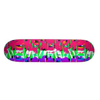 Shape De Skate 20cm Design colorido do teste padrão do pulso aleatório