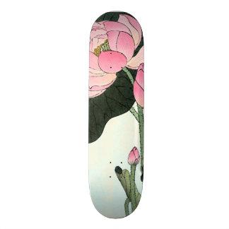 Shape De Skate 20cm Flor japonesa das belas artes | Lotus do vintage