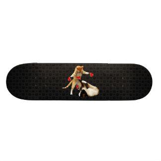 Shape De Skate 20cm Gatos do encaixotamento no preto