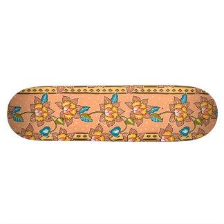 Shape De Skate 20cm Mão dourada teste padrão floral decorativo tirado