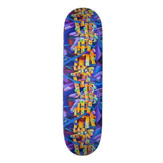 Shape De Skate 20cm O abstrato cuba o roxo