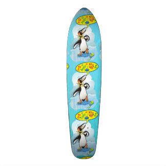 Shape De Skate 20cm Pinguim de rei desesperado que diz palavras más