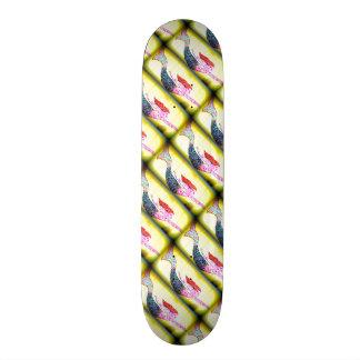 Shape De Skate 20cm sereias cor-de-rosa subaquáticas do mosaico que