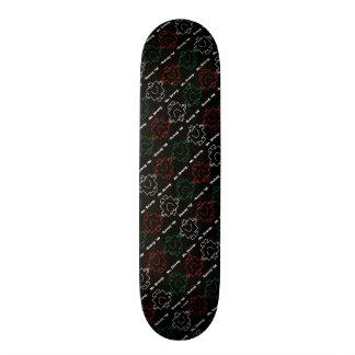 Shape De Skate 20cm Sr. Forte teste padrão vermelho, branco & verde de