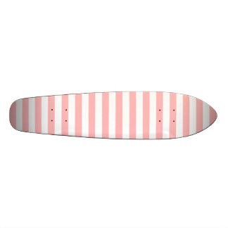 Shape De Skate 20cm Teste padrão cor-de-rosa e branco da listra
