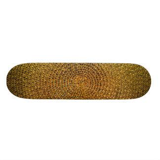 Shape De Skate 20cm Teste padrão espiral do ouro