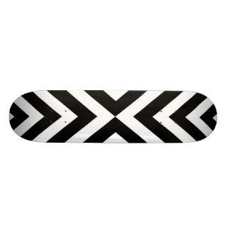 Shape De Skate 20cm Teste padrão geométrico abstrato - preto e branco.