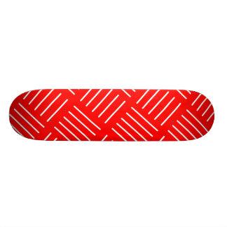 Shape De Skate 20cm Teste padrão geométrico abstrato - vermelho e