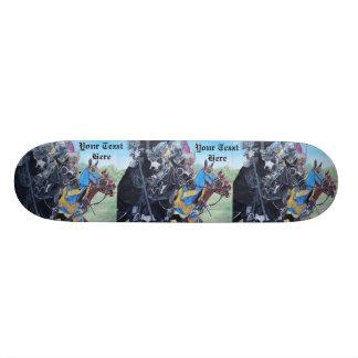 Shape De Skate 21,6cm arte histórica jousting dos cavalos dos cavaleiros