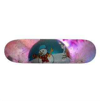 Shape De Skate 21,6cm Boneco de neve - bolas do Natal - Feliz Natal