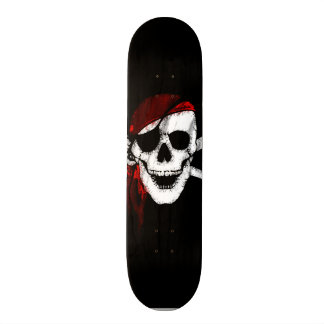 Shape De Skate 21,6cm Crânio assustador e Crossbones do pirata