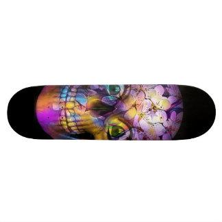 Shape De Skate 21,6cm Crânio floral surpreendente A