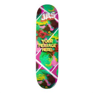 Shape De Skate 21,6cm Laranja cor-de-rosa magenta derramada na moda da
