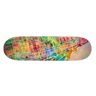 Shape De Skate 21,6cm Mapa de ruas da cidade de Toronto