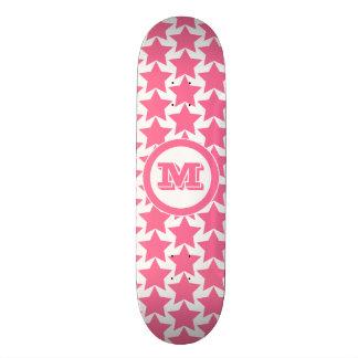 Shape De Skate 21,6cm Meninas do teste padrão & do monograma | de