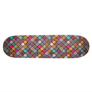 Shape De Skate 21,6cm O diamante colorido telhou o teste padrão floral