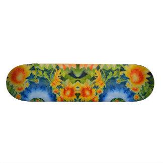Shape De Skate 21,6cm O girassol coloca para sempre - o azul