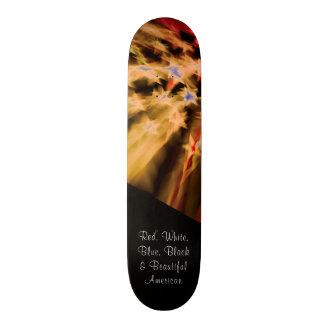 Shape De Skate 21,6cm Orgulho americano preto
